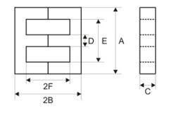 Sh-shaped cores for transformers