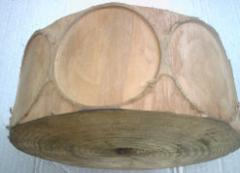 Drum model for production of pelmeni wooden