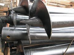 Screw piles of a big dimeter