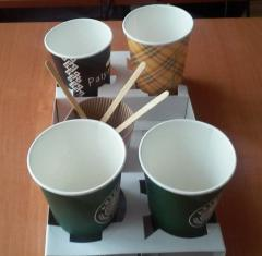 Support on 4 glasses cardboard