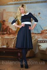 Платье черное с белыми вставками Код: 221/ОН