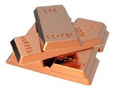 Copper ingots (ingots) copper alloy M0 for