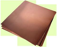 Медный лист М1 мяг, 0,5