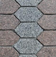 Paving slabs from granite