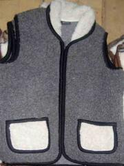 Vests from sheep fur