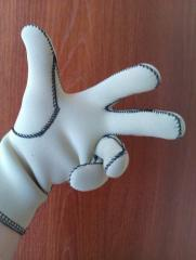 Gloves protective for wet environments