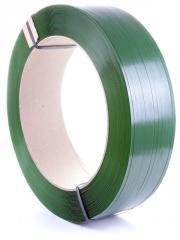 Зелёная лента упаковочная (стрепинг лента)