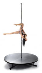 Pole with a scene for Pole dance (pole stage)