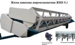 Harvester roll hinged shirokozakhvatny with the