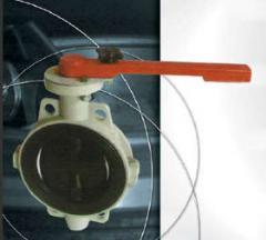 Затвор дисковый с защитным покрытием с ручным