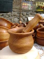 Посуда деревянная для кухни