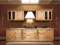 Cozinhas de madeira natural