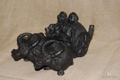 Сувениры глиняные, статуэтки, кастрюльки,