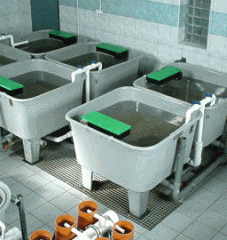 Квадратные бассейны для выращивания рыб серия ST ,