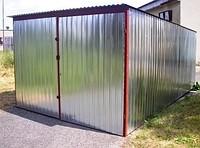 Metal garages on scrap metal
