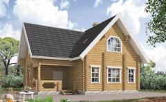 Wooden house from felling of 154 sq.m.