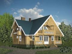 The wooden house from felling of 180 sq.m.