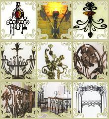 Кованые ограды, перила, мебель, ворота, элементы