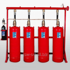 Module of gas fire extinguishing