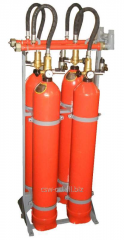 Component of systems of gas fire extinguishing