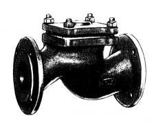 Клапан обратный подъемный фланцевый из серого