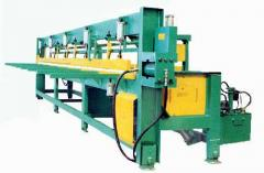 Пресс для торцового сращивания шипованых заготовок