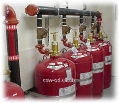 Systems of gas fire extinguishing automatic,