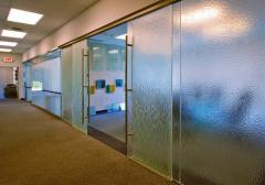 Partitions sliding glass