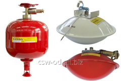 Module of powder fire extinguishing