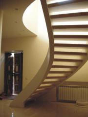 Лестницы железобетонные спиральные по двум несущим
