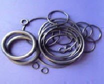Shaped rubber products, Rings of round section of