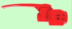 Стоп-кран 163 для подвижного состава железных