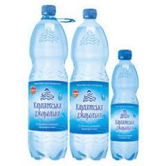 Природная минеральная вода, газированная