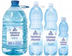 Природная минеральная вода, негазированная