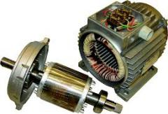 Repair of electric motors with a power up to 90 kW