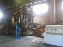 Line of coal briquetting