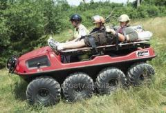 The all-terrain vehicle 8х8 for evacuation of