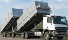 Автопоезд-зерновоз  Bronton-70  - перевозка