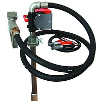 The barrel pump for gas station and pumping of