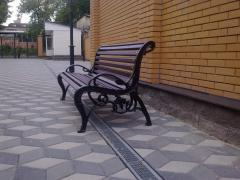 Bench, bench, sidewall, cast iron molding, bench