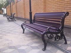 Bench, bench, sidewalls of benches, cast iron,