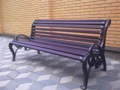 Bench, bench, molding from cast iron
