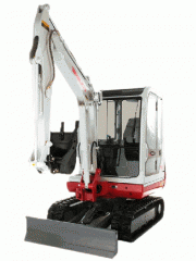 The mini-excavator hydraulic TB125 Having the