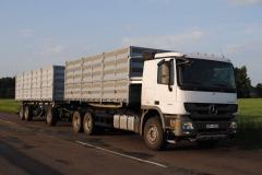 Samochody ciężarowe zbożowce (pociągi drogowe)