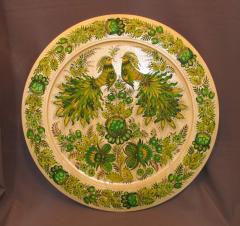 Тарелка, дерево, петриковская роспись