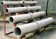 Asbestos-cement pipes free-flow to dia. 100; 150;
