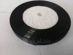 Тесьма репсовая 6 мм черная,  нейлон