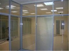 Office partitions from aluminum stationary