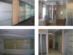 Office partitions aluminum