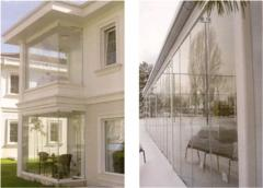 Glazing of balconies of Bezramnaya system